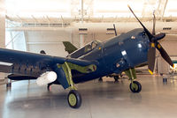 83479 @ KIAD - Helldivers were the last dive-bombers in the U.S. Navy. This Helldiver never saw combat, having reached Guam before the war ended. It was assigned to VB-92 Battling Beasts aboard USS Lexington (CV-16) from Sept. to Dec. 1945. - by Arjun Sarup