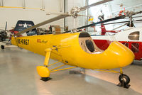 N41867 @ KIAD - Lawrence Bell saw a market for the helicopter as a personal means for Americans to move around after the war. Along with Arthur Young and Bartram Kelly, Bell produced the Model 30 Genevieve, which flew in 1942.
