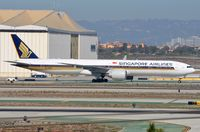 9V-SWN @ KLAX - Singapore down graded from A388 to B773 in LAX. - by FerryPNL