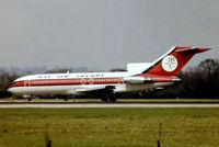 G-BAFZ @ EGKK - Boeing 727-46 [18877] (Dan Air London) Gatwick~G 18/01/1982. From a slide.