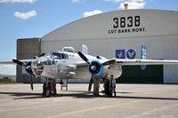 N125AZ @ CTB - A B-25J Mitchell medium bomber at the former Cut Bank Army Air Field - by Jim Hellinger