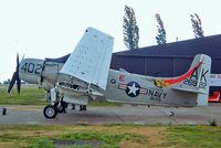 G-RADR @ EGSX - Douglas AD-4NA Skyraider [7722] (Kennett Aviation) North Weald~G 19/06/2004