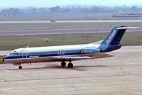 PH-BBV @ EGLL - Fokker F-28-4000 Fellowship [11127] (NLM CityHopper) Heathrow~G 16/05/1978. From a slide.