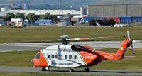 EI-ICG @ EGAC - Irish Coastguard helicopter EI-ICG departing Belfast City. - by Albert Bridge