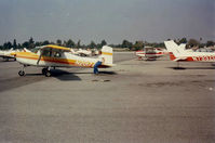 N2017Z @ KEMT - Cessna N2017Z at El Monte airport, 21 August 1988, Kurt Rudolph returning from first solo. - by Mrs. T. W. Rudolph