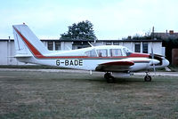 G-BADE @ EGLM - Piper PA-23-250 Aztec D [27-4205] White Waltham~G 03/09/1975. From a slide.