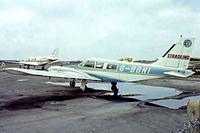 G-BBNI @ EGLK - Piper PA-34-200 Seneca [34-7350312] (H A Stradling & Sons) Blackbushe~G 23/04/1978. From a slide.