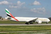 A6-EGO @ LMML - B777 A6-EGO Emirates Airlines - by Raymond Zammit