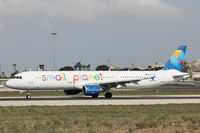 SP-HAX @ LMML - A321 SP-HAX Small Planet Airlines - by Raymond Zammit