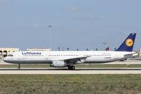 D-AIRP @ LMML - A321 D-AIRP Lufthansa - by Raymond Zammit