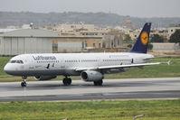 D-AIRR @ LMML - A321 D-AIRR Lufthansa sporting special scheme. - by Raymond Zammit