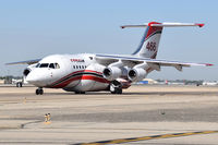 C-GVFT @ KBOI - Taxing on Alpha. Aircraft is a 1994 BAe Avro RJ85, c/n E2253. - by Gerald Howard