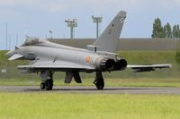C16-56 @ LFOA - Spanish Air Force Eurofighter EF-2000 Typhoon S, Taxiing to holding point rwy 24, Avord Air Base 702 (LFOA) Open day 2016 - by Yves-Q