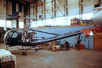 G-BAIU @ EINN - Hiller UH-12E4 Raven [2138] Shannon~EI 14/04/1979. From a slide.