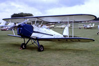 G-AYIJ @ EGTH - G-AYIJ   SNCAN Stampe SV.4B [376] Old Warden~G 13/07/1980. From a slide.