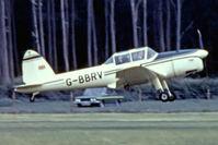 G-BBRV @ EGTH - De Havilland Canada DHC-1 Chipmunk 22 [C1/0284] Old Warden~G 30/06/1974. From a slide not the best of images.