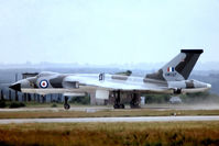 XM597 @ EGVI - Avro Vulcan B.2 [SET61] (Royal Air Force) RAF Greenham Common~G 07/07/1974. From a slide.