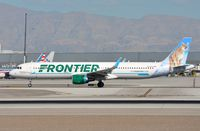 N702FR @ KLAS - Frontier A321 Courtney the Cougar - by FerryPNL