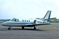 OY-AJV @ EGMC - Cessna Citation [500-0279] Southend~G 09/05/1978. From a slide.
