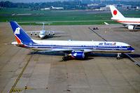 C-GTSF @ EGBB - Boeing 757-23A [25491] (Air Transat) Birmingham Int'l~G 01/10/2003 - by Ray Barber