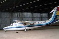 FAB-028 @ SLLP - FAB-028   Rockwell Turbo Commander 690 [11067] (Bolivian Air Force) La Paz-El Alto Int'l~CP 07/04/2003 - by Ray Barber