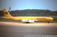 D-ABUA @ EDDK - Boeing 707-330C - German Cargo Service, Subsidiary of Lufthansa - D-ABUA - 1978 - CGN, from a slide - by Ralf Winter