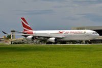 3B-NAY @ FIMP - 'Cardinal' taxiing out for departure from rwy 14 in the morning. - by Arjun Sarup