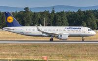 D-AIUN @ EDDF - decelerating after touchdown on runway 07L - by Friedrich Becker