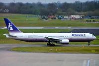 G-OBYJ @ EGBB - Boeing 767-304ER [29384] (Britannia Airways) Birmingham Int'l~G 05/01/2005 - by Ray Barber