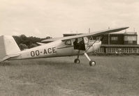 OO-ACE - OO-ACE at Casteau. The airfield was closed in September 1966 and became SHAPE. - by P. VDG