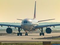 TC-JDS @ EDDF - taxiing to the active, on an early morning departure from Frankfurt