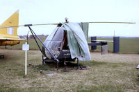 G-APJJ @ EGBE - Fairey Ultra Light Helicopter [F.9428] Coventry~G 29/04/1979. From a slide.