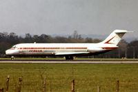 N7465B @ EGKK - McDonnell Douglas DC-9-33 [47465] (Itavia) Gatwick~G 30/04/1978. From a slide.