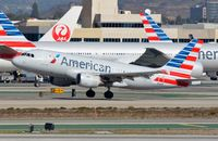 N769US @ KLAX - American A319 rotating. - by FerryPNL