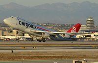 LX-SCV @ KLAX - Cargolux B744F lifting-off. - by FerryPNL