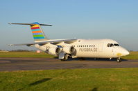 SE-RJI @ EGSH - Just landed at Norwich - by Graham Reeve