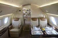 N981EE @ ORL - Lineage 1000 interior