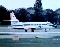 11 01 @ EGWU - Lockheed Jetstar 6 [5025] (German Air Force) RAF Northolt~G 09/09/1974. From a slide. Not the best of images