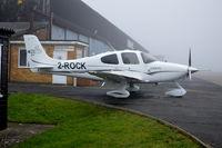 2-ROCK @ EGTF - Guernsey registered Cirrus SR22 GTS at a foggy Fairoaks. Ex N123DV. - by moxy