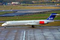 LN-RMH @ EGBB - McDonnell Douglas DC-9-87 (MD-87) [49612] (SAS Scandinavian Airlines) Birmingham Int'l~G 25/02/2005 - by Ray Barber