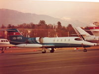 HB-VFS @ LSGG - Learjet 36A, Cointrin (LSGG-GVA), approximately 1980 - by Jean-Louis Thorimbert