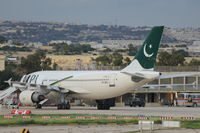 AP-BEQ @ LMML - A310 AP-BEQ Pakistan International Airlines - by Raymond Zammit