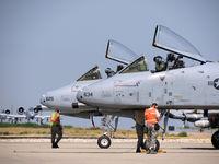 78-0634 @ KBOI - Undergoing pre flight checks along with 78-0625. - by Gerald Howard