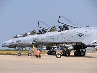 78-0634 @ KBOI - Four A-10Cs undergoing pre flight checks. - by Gerald Howard