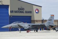 87-0182 @ KBOI - Parked on the Guard ramp. 389TH Fighter Sq., Thunderbolts, 366th Fighter Wing. - by Gerald Howard
