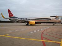 D-ATUE @ EDDK - Boeing 737-8K5(WL) - TUIfly 'DB ICE Im Zug zum Flug' - D-ATUE - 08.12.2012 - CGN - by Ralf Winter