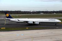 D-AIHO @ EDDL - Airbus A340-642 - LH DLH Lufthansa - D-AIHO - 30.03.2016 - DUS - by Ralf Winter