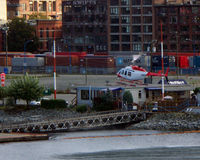 C-FTHU @ CYHC - taken as landing at heliport in Vancouver harbour, adjacent to container terminal - Sept 2008 - by Neil Henry