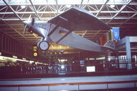 N-X-211 @ MSP - Scanned from original slide taken Sept 1993 at MSP airport.  Believed to be replica of Lindberg's Spirit of St Louis - as used for a movie. - by Neil Henry