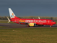 D-ATUH @ EGSH - Departing NWI in a new CEWE livery - by Matt Varley